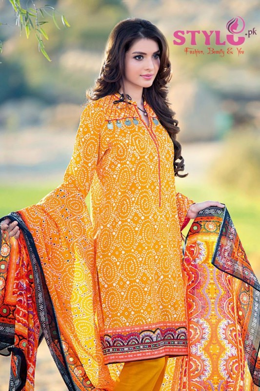 Gul Ahmed Bandhani Lawn Summer 2016 Dresses