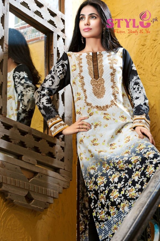 Gul Ahmed Embroidered Lawn Singles Collection 2016