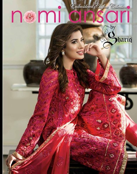 Nomi Ansari Chiffon Dresses 2016 For Women001