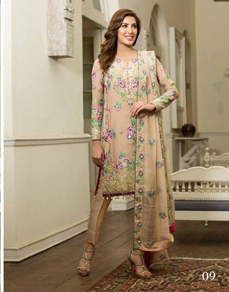 Nomi Ansari Chiffon Dresses 2016 For Women009