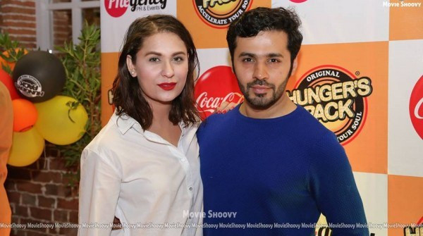 saim and nousheen shah at hunger's pack launch