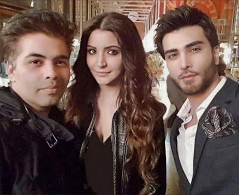 See Imran Abbas with Karan Johar and Anushka Sharma in London