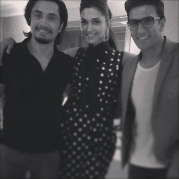 Ali Zafar with Deepika and Ranveer