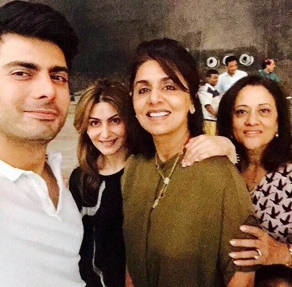 Fawad Khan with Neetu Singh
