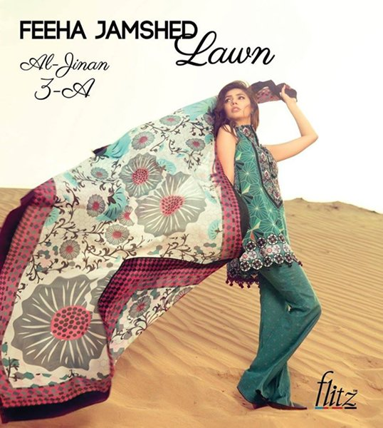 Feeha Jamshed Lawn Dresses 2016 For Women005