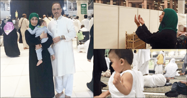 Film Star Reema performed Umrah (1)