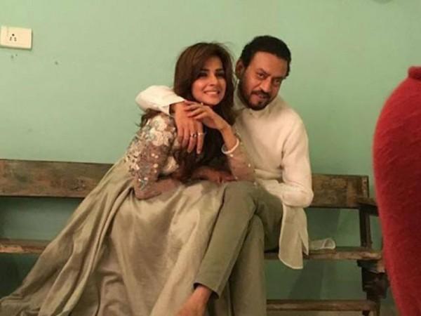 Irrfan Khan and Saba Qamar