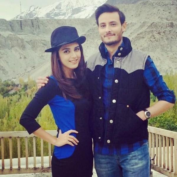 Osman Khalid and Maya Ali