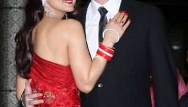 See Preity Zinta and Gene Goodenough's reception Pictures