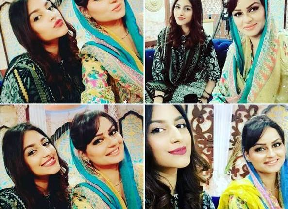 See Javeria Abbasi with her daughter Anzela Abbasi