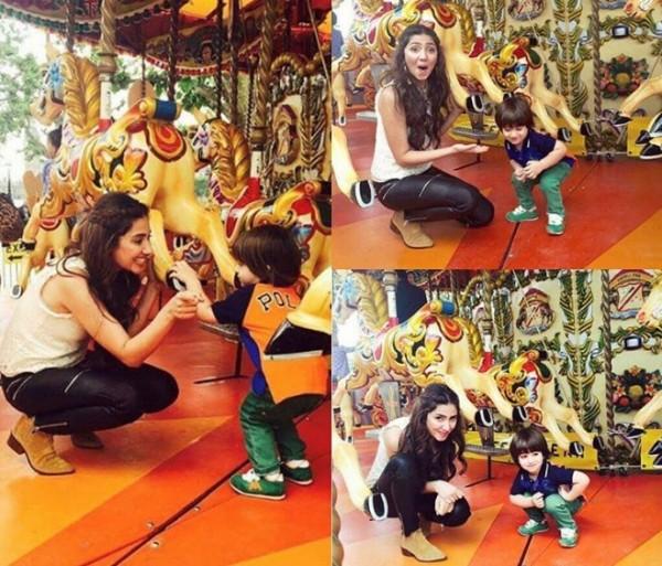 Mahira Khan with her fan