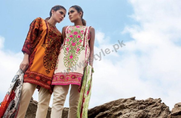 Muzlin Embroidered Unstitched Collection - 03