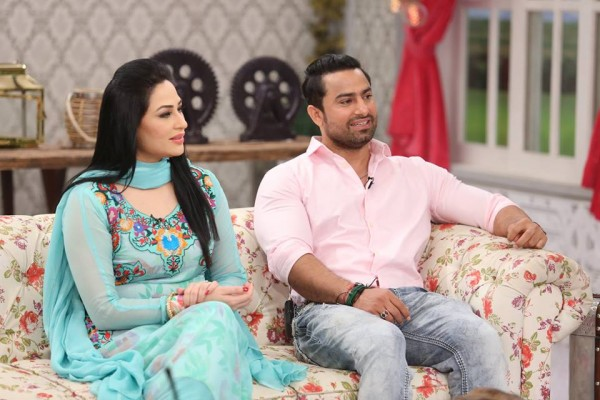 The reunited couple Humaira Arshad and Ahmed Butt on screen (10)