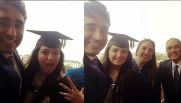 See Aseefa Bhutto Zardari graduated with MSC degree