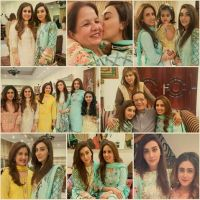 Ayesha Khan with her family