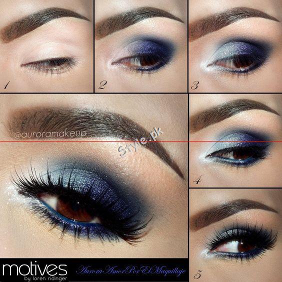 Blue Eyeliner Makeup Ideas.5