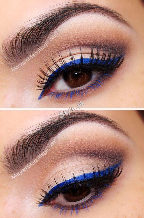 Blue Eyeliner Makeup Ideas02