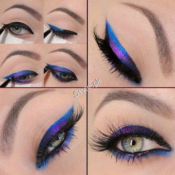 Blue Eyeliner Makeup Ideas04