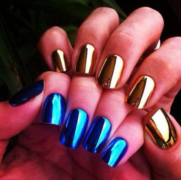See Mirror Nail Polish is much in fashion