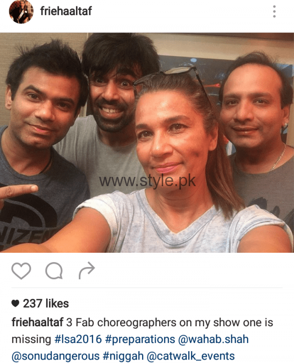 Pictures of Pakistani Celebrities during Rehearsals of LSA 2016 (10)