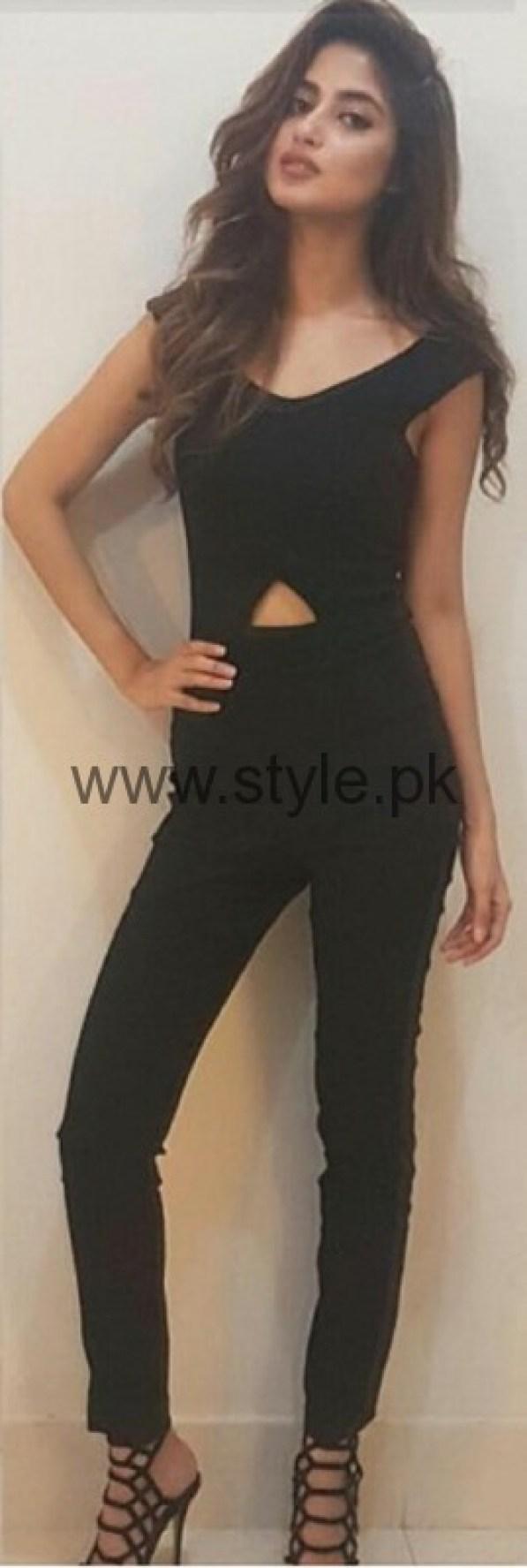 Sajal Ali In Black Outfit