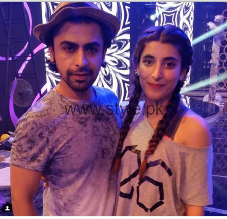 Urwa Hocane and Farhan Saeed during rehearsals of LSA 2016 (3)