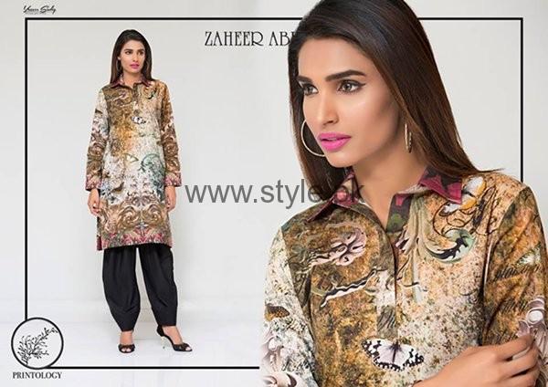 Zaheer Abbas Casual Dresses 2016 For Women001