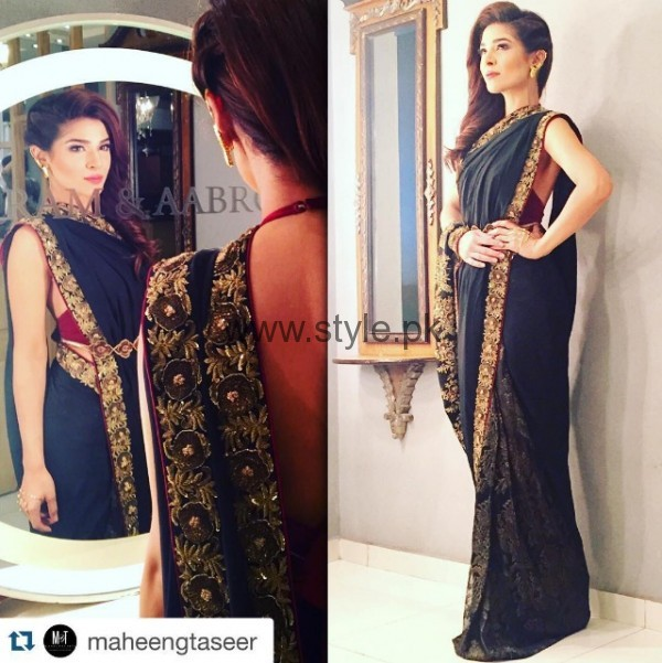 Ayesha Omer In Saree