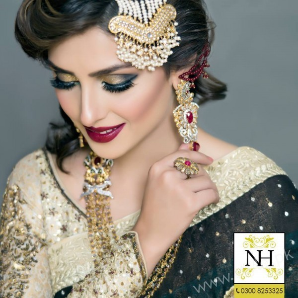 Ayeza Khan Bridal Photoshoot Nadia Hussain Salon