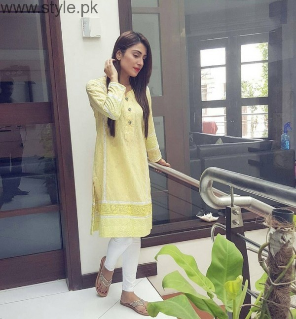 Ayeza Khan In Yellow Dress