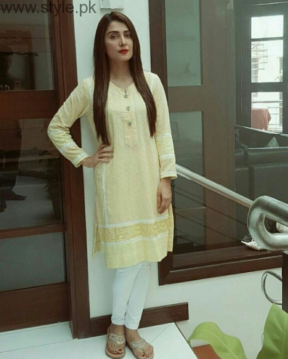 Ayeza Khan In Yellow Outfit