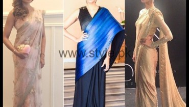See Celebrities spotted in Sarees on Red Carpets