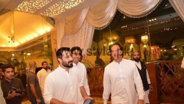 See Imran Khan at Hamza Ali Abbasi's sister's Wedding