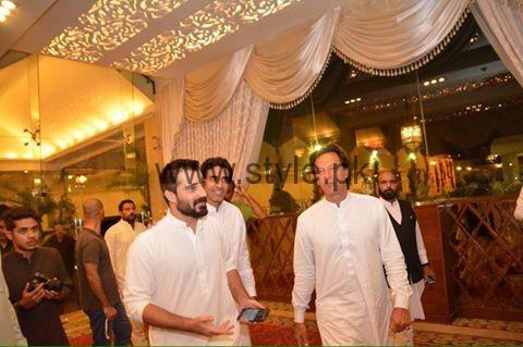 See Imran Khan at Hamza Ali Abbasi's sister's Wedding