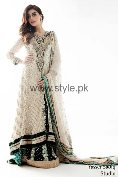 Latest Embroidered dresses 2016 for Newly Married girls (10)