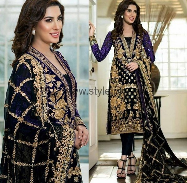 Latest Embroidered dresses 2016 for Newly Married girls (13)
