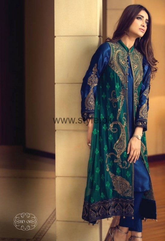 Latest Embroidered dresses 2016 for Newly Married girls (14)