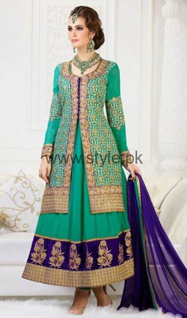 Latest Embroidered dresses 2016 for Newly Married girls (16)