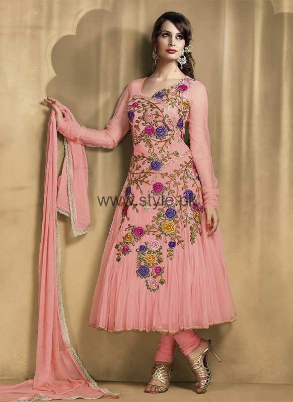 Latest Embroidered dresses 2016 for Newly Married girls (17)