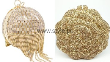See Latest Golden Bridal Clutches 2016