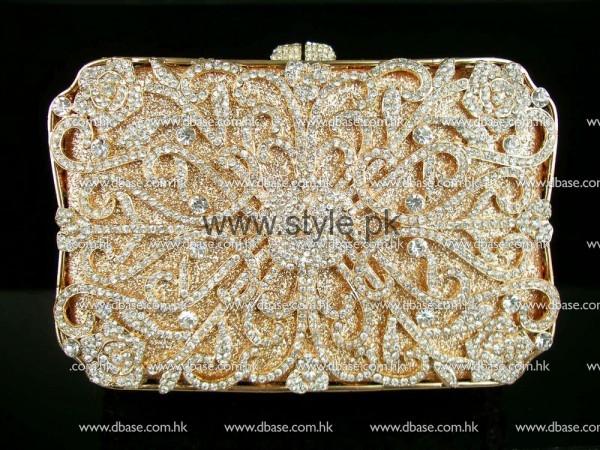 Latest Golden Bridal Clutches 2016 (5)