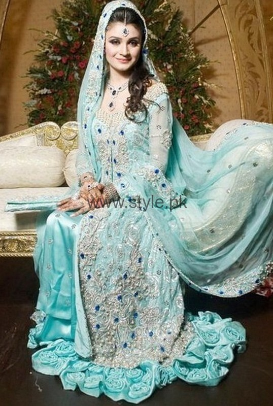 Light Blue Latest Walima Dress