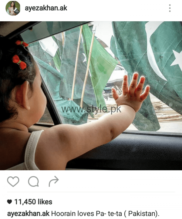Pakistani Celebrities on Independence Day 2016 (4)