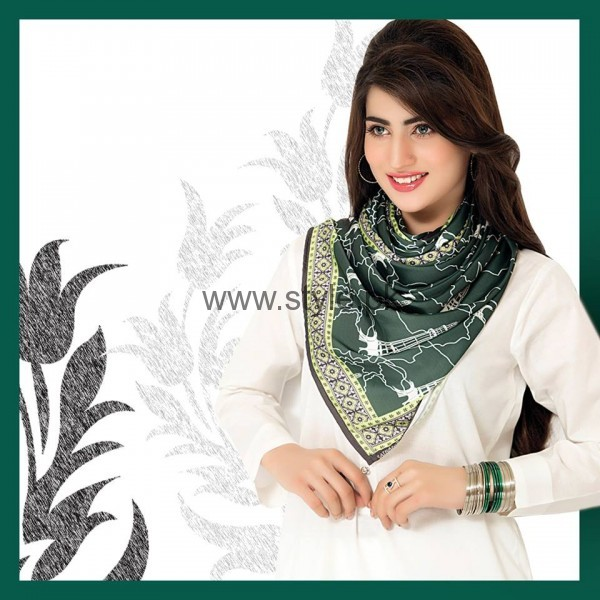 Pakistan's Independence Day Scarves 2016 (2)