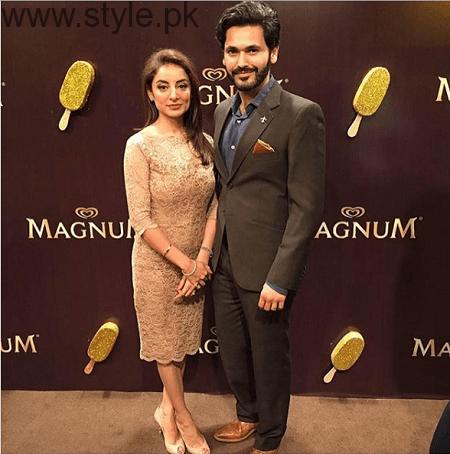 Beautiful Clicks of Sarwat Gilani and Fahad Mirza at Magnum Party 2016 (2)