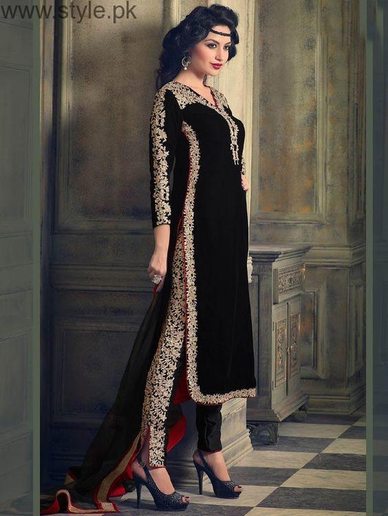 Latest Black Eid Dresses 2016 (5)
