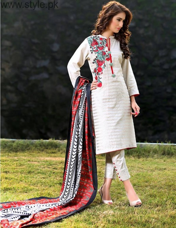 Latest Pakistani White party wear dresses 2016 (14)