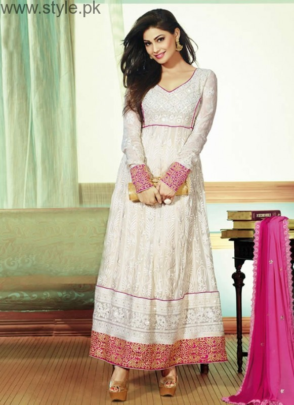 Latest Pakistani White party wear dresses 2016 (7)