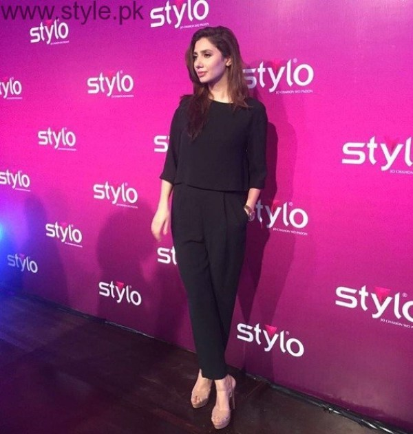 Mahira Khan In Black Outfit At Stylo Event