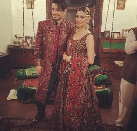 See Mahira Khan and Ali Zafar walked on ramp for Divani Couture 2016